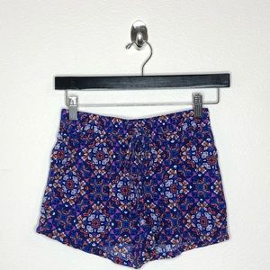 Bebop Multicolored Patterned Shorts XS